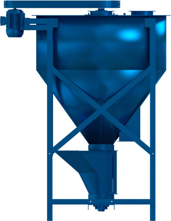 The Hippo Mills Vertical Mixer. Left side